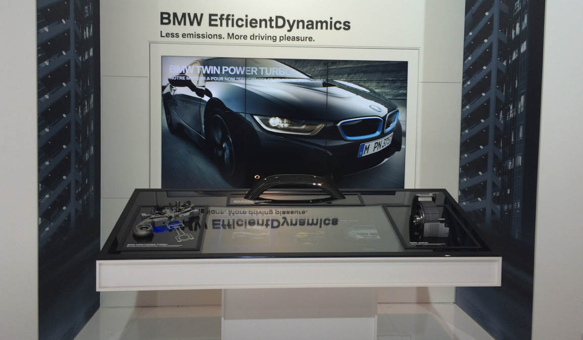 BMW Triple Halo Exponat, Auto Salon Paris 2014, client: madhat GmbH